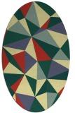 rug #1145355   oval yellow abstract rug