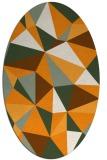 rug #1145383 | oval light-orange graphic rug