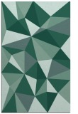 rug #1145447 |  blue-green geometry rug