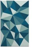 rug #1145459 |  blue-green abstract rug