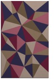 rug #1145495 |  blue-violet graphic rug