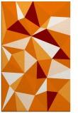 rug #1145603 |  orange abstract rug