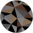 rug #1145767 | round black abstract rug