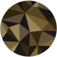 rug #1145779 | round black abstract rug