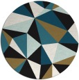 rug #1145787 | round brown abstract rug