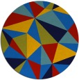 rug #1145791 | round blue abstract rug