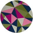 rug #1145803 | round green abstract rug