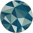 rug #1145827 | round blue-green graphic rug