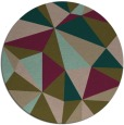 rug #1145871 | round brown abstract rug