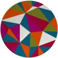 rug #1145879 | round blue-green rug