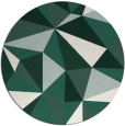 rug #1145891 | round green abstract rug