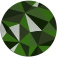 rug #1145899 | round green abstract rug