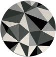 rug #1145903 | round black graphic rug