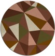 rug #1145907 | round mid-brown graphic rug