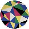 rug #1145959   round black graphic rug