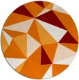 rug #1145971 | round orange abstract rug