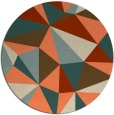 rug #1145975 | round orange abstract rug