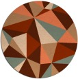 rug #1145982 | round abstract rug