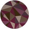 rug #1146001 | round graphic rug