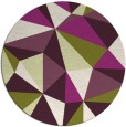 rug #1146003 | round green abstract rug