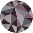 rug #1146011   round purple rug