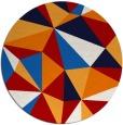 rug #1146015 | round red popular rug
