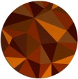 rug #1146031 | round red-orange abstract rug