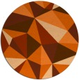 rug #1146035   round red-orange abstract rug