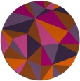 rug #1146039 | round red-orange abstract rug