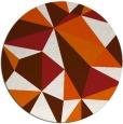 rug #1146043   round red-orange rug