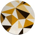 rug #1146059 | round brown abstract rug
