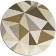 rug #1146079 | round yellow graphic rug