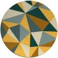rug #1146087 | round light-orange geometry rug