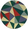 rug #1146091 | round yellow rug