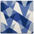 rug #1146543 | square blue graphic rug