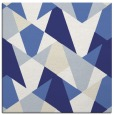 rug #1146791 | square blue graphic rug