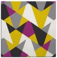 rug #1146819 | square yellow retro rug