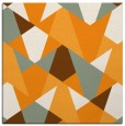 rug #1146855 | square light-orange retro rug