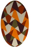 rug #1146863 | oval beige retro rug