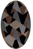 rug #1146871 | oval black retro rug