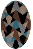 rug #1146879 | oval brown graphic rug