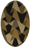rug #1146883 | oval mid-brown rug