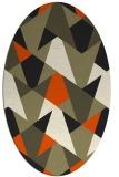 rug #1146889 | oval retro rug