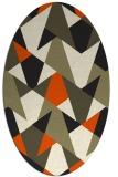 rug #1146890 | oval graphic rug