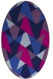 rug #1146899 | oval pink retro rug