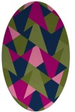 rug #1146907 | oval blue graphic rug