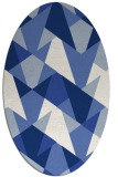 rug #1146911 | oval blue graphic rug