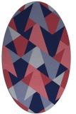 rug #1146955 | oval pink graphic rug