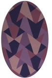 rug #1146959 | oval purple graphic rug