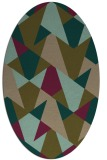 rug #1146975 | oval brown retro rug